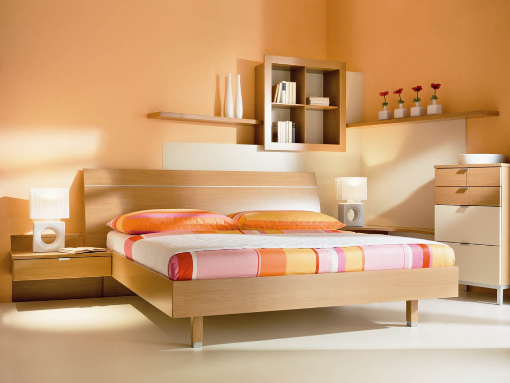 schlafzimmer orange gr n inspiration. Black Bedroom Furniture Sets. Home Design Ideas